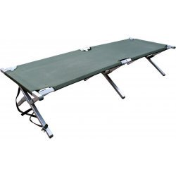 Camp bed Dutch army green